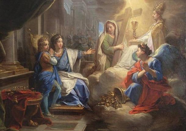 Blanche de Castille with Saint Louis by Jean Baptiste Jouvenet
