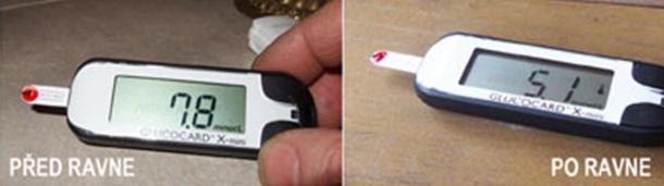 Blood sugar levels before and after visiting prehistoric Ravne Tunnel Labyrinth