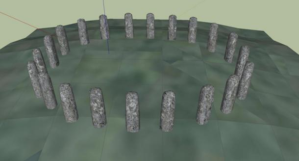 A digital reconstruction of Bluestonehenge by Henry Rothwell