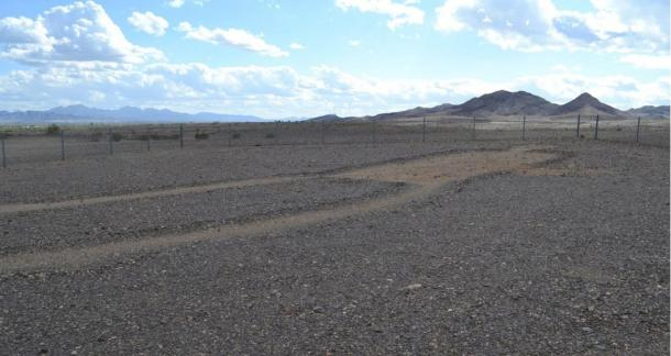 The Blythe Intaglios are situated in the barren landscape of the Colorado Desert