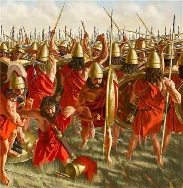 A battle between the Boeotians and the Spartans.