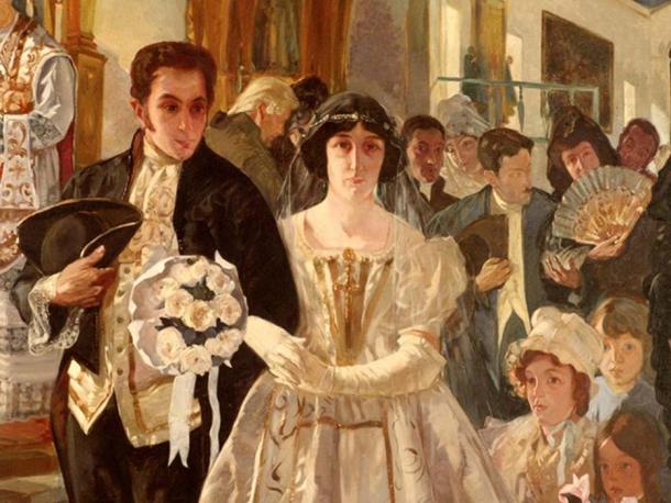 Bolívar marries María Teresa Rodriguez del Toro in 1802. (Santy cardenas / CC BY-4.0)