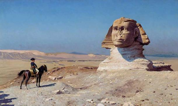 Bonaparte Before the Sphinx, (ca. 1868) by Jean-Léon Gérôme, Hearst Castle. (Public Domain)