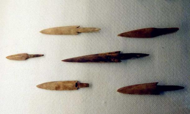 Bone arrowheads were found at Jiahu, but the people there were not just hunters, they were also among the earliest farmers in that part of the world.