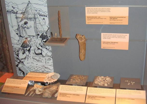 Bones, antlers and stones were used to make tools during the Mesolithic.