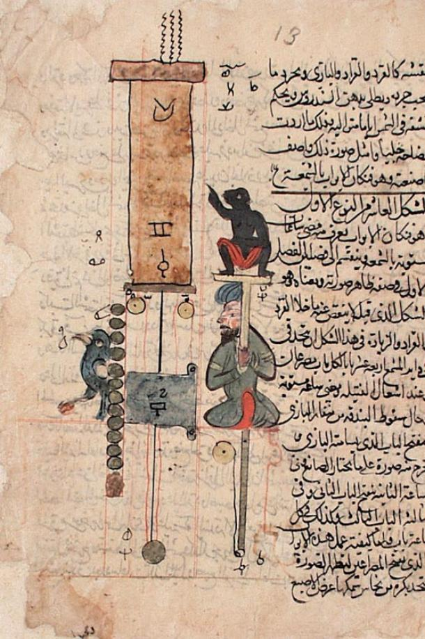 The Book of Knowledge of Ingenious Mechanical Devices, by Ismail al-Jazari, was written in 1206 and includes a detailed description of one hundred devices and inventions along with instructions on how to construct them