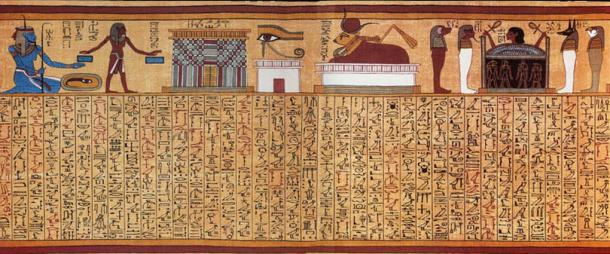 Book of the Dead spell 17 from the Papyrus of Ani