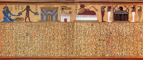 Book of the Dead spell 17 from the Papyrus of Ani.