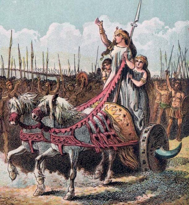 Boudica leads the rebellion against the Romans in 61 AD.