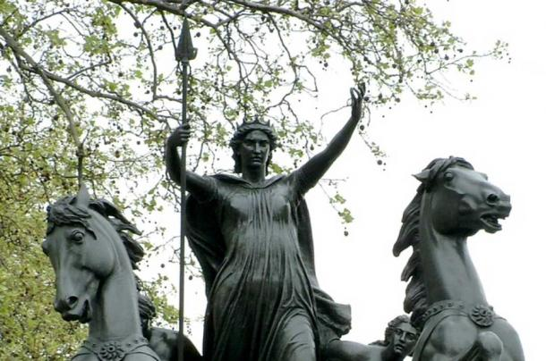 Boudica statue on the Thames Embankment in London. (Thomas Thornycroft/ CC BY SA 2.5)