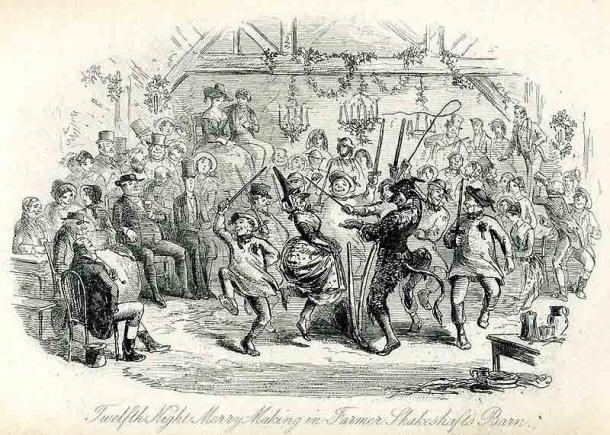 In some branches of Christianity, Twelfth Night (or Epiphany Eve) marks the coming of Epiphany on either the 5th or 6th of January. In the image a depiction of Twelfth Night Merry-Making. (Public domain)