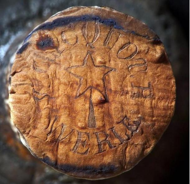 Branding on the corks helped identify the origins of the 170-year-old champagne.