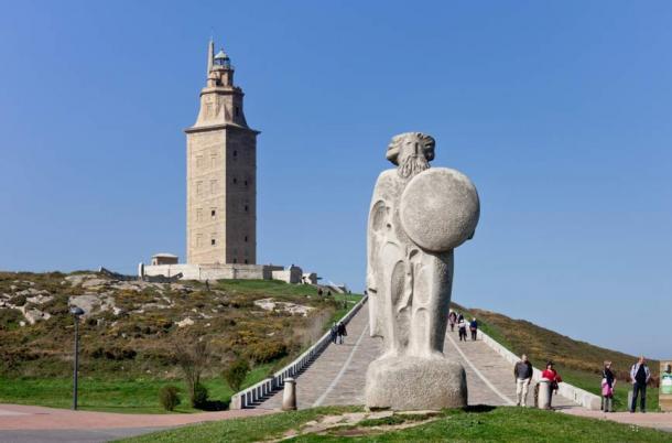 Breogan and the Tower of Hercules, A Coruña, Galicia, Spain