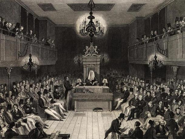 British House of Commons in 1834. (Public Domain)