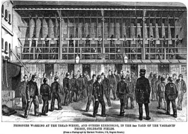 British prison treadwheel. (Opencooper / Public Domain)
