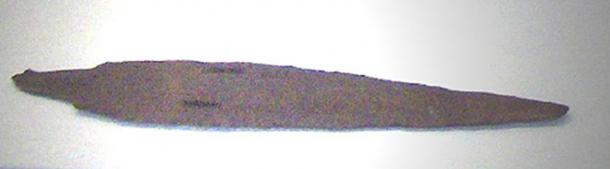Bronze dagger of King Anitta, found at Kültepe. Period of the Assyrian Trade Colonies (18th c. BC). Museum of Anatolian Civilizations, Ankara, Turkey