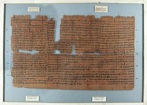 The Brooklyn Papyrus, an ancient Egyptian medical papyrus dating from about 450 BC.