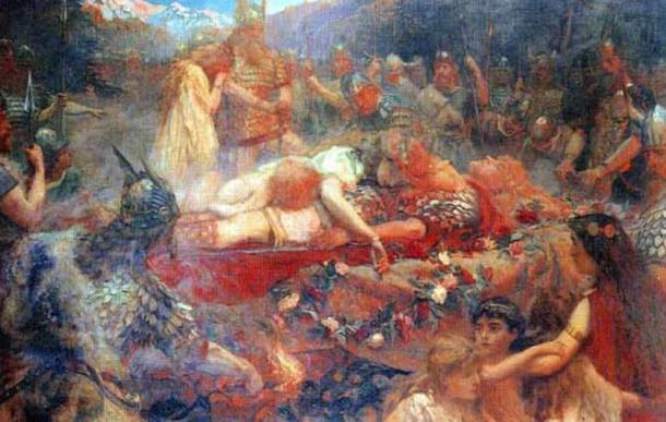 Brunhild and Sigurd's Funeral (1909), C. Butler