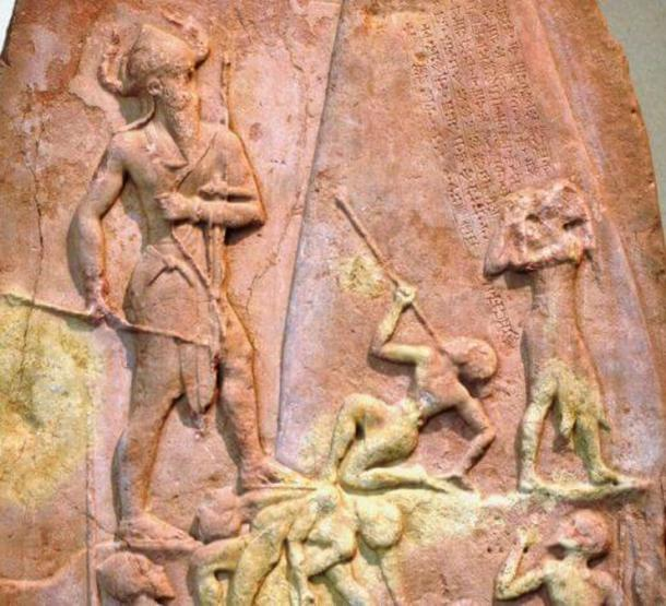 Brutal death was customary in Mesopotamia. Naram Sin victory stele, Louvre. (Public Domain)