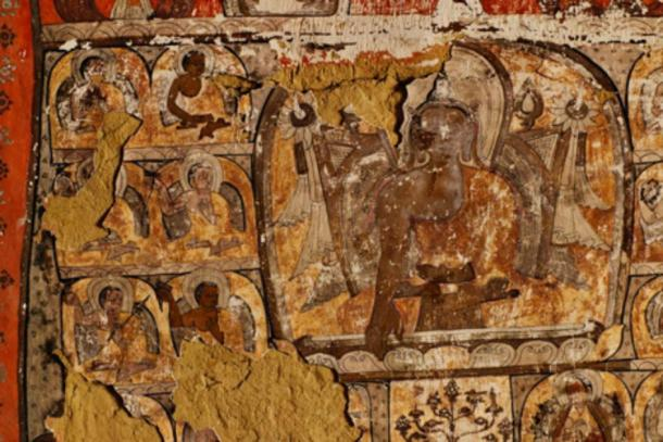 Buddhist murals have been found in a few of the caves.