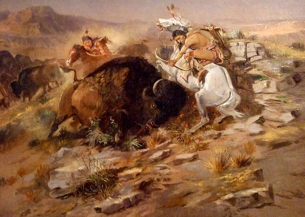 Charles Marion Russell - Buffalo Hunt. (Public Domain)