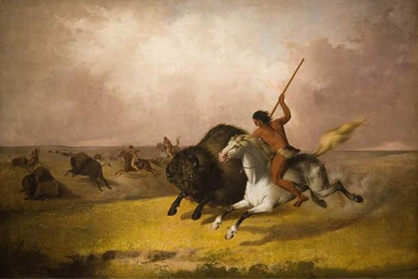 'Buffalo hunt on the Southwestern plains' (1845) by John Mix Stanley. (Public Domain)