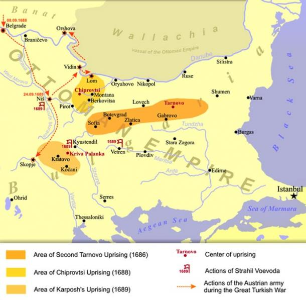 Bulgarian uprisings against Ottoman rule in the second half of the 17th century
