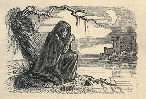 """Bunworth Banshee, """"Fairy Legends and Traditions of the South of Ireland"""", by Thomas Crofton Croker, 1825."""