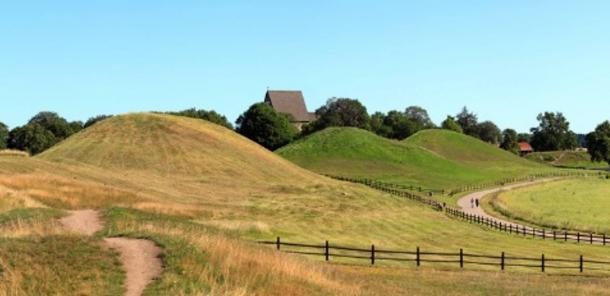 The Burial Mounds of Old Uppsala, Sweden.