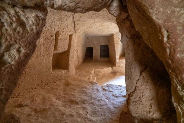 Burial chambers at Tombs of the Kings.