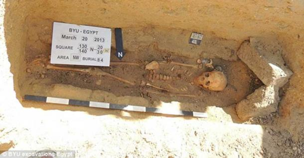 Burial from Fag el-Gamous. Courtesy of BYU Excavations.