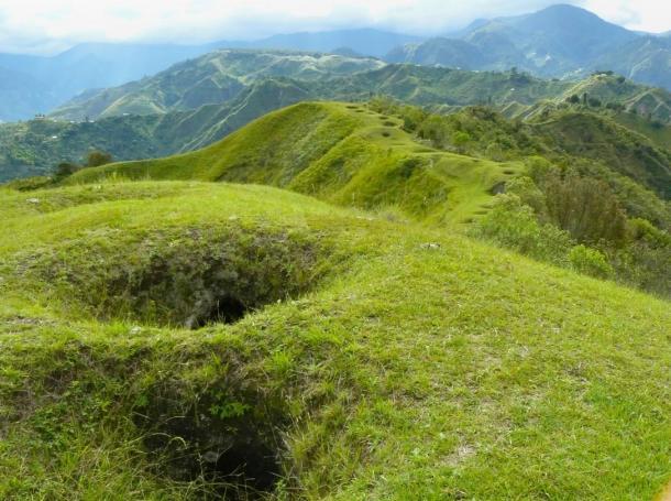 Túmulos en el Parque Nacional de Tierradentro