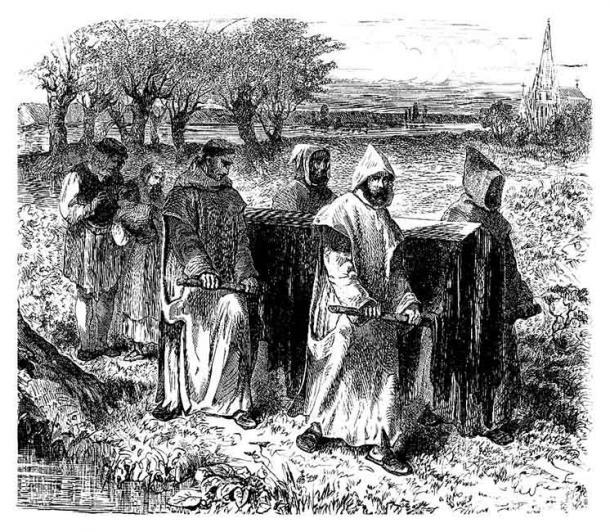 Medieval burial. (Erica Guilane-Nachez /Adobe Stock)