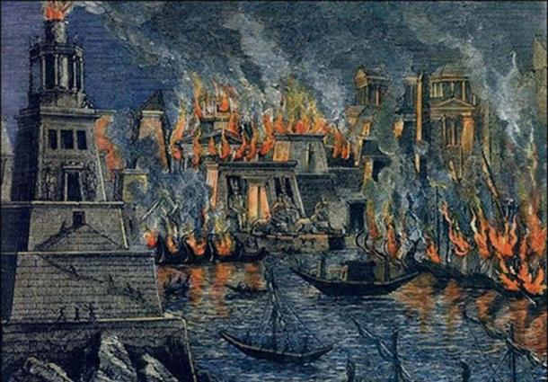 'The Burning of the Library of Alexandria', by Hermann Goll (1876).
