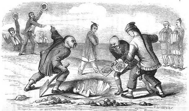 Burying babies in China (public domain)