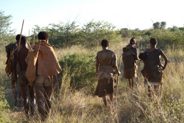 Bushmen of the Kalahari Desert in Africa. (franco lucato / Adobe)