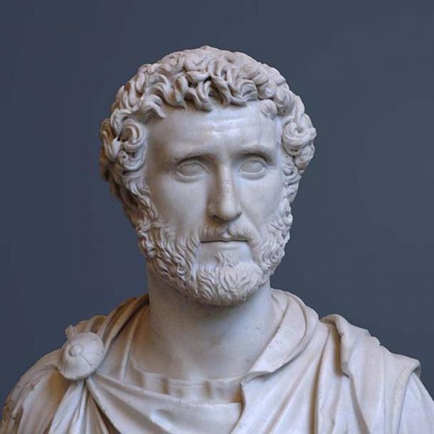 Bust of Antoninus Pius, circa 150 AD.
