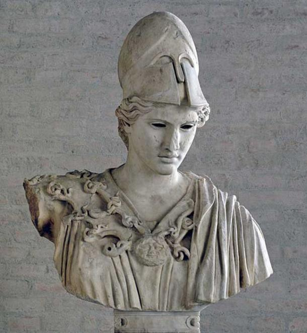 Bust of Athena,  second century CE