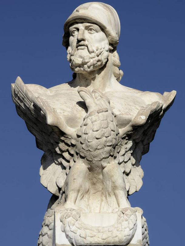 Bust of Cimon in Larnaca, Cyprus.
