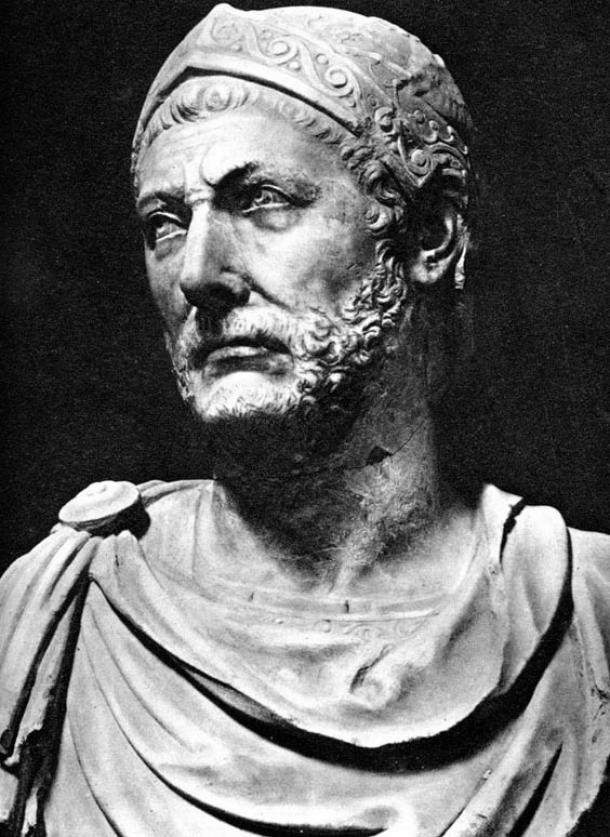 Bust of Hannibal Barca.