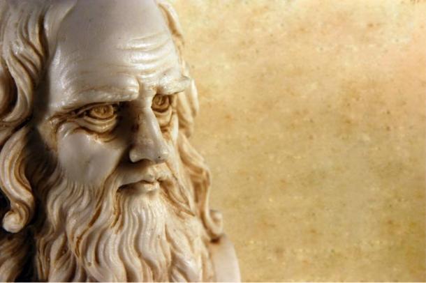 Bust of Leonardo da Vinci in old age