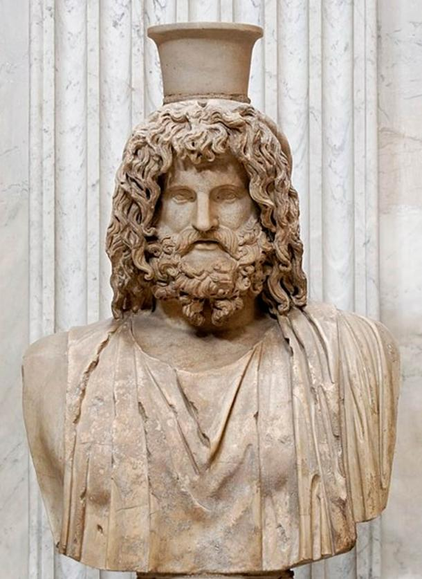 Bust of Serapis. Marble, Roman copy after a Greek original from the 4th century BC, stored in the Serapeum of Alexandria