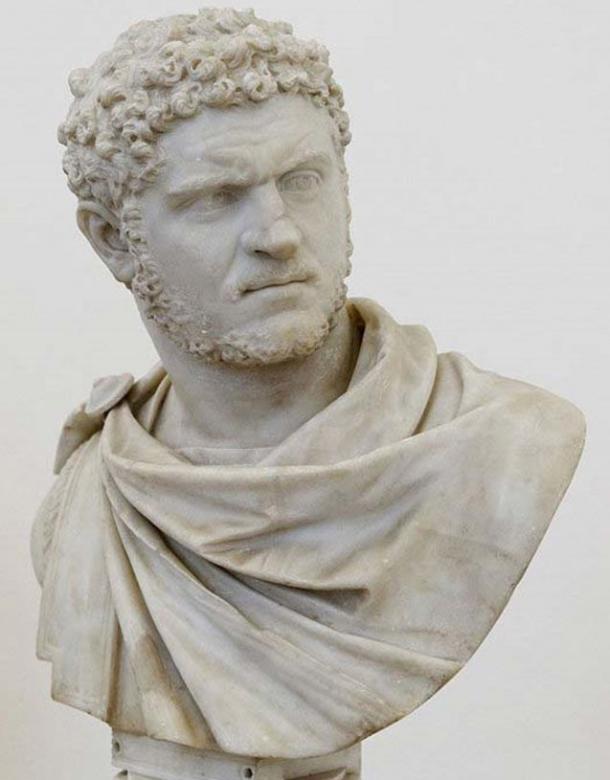 Bust of the emperor Caracalla.