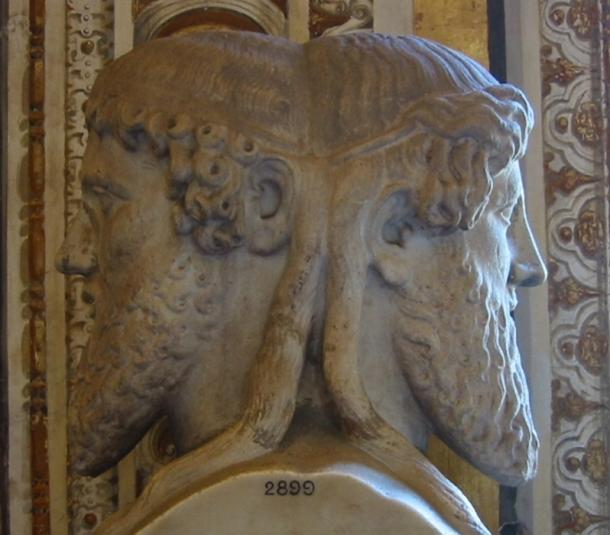 Bust of the god Janus, Vatican museum, Vatican City. (Public Domain)
