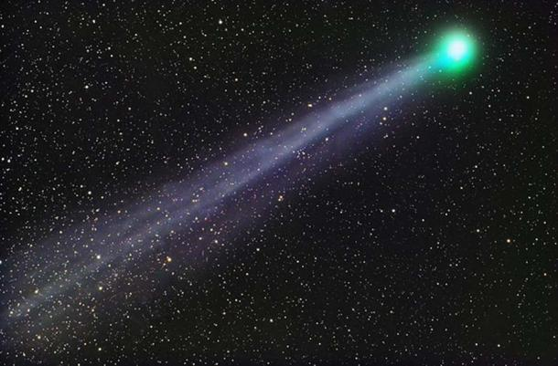 C/2014 Q2 (Lovejoy) is a long-period comet discovered on 17 August 2014 by Terry Lovejoy. This photograph was taken from Tucson, Arizona, using a Sky-Watcher 100mm APO telescope and SBIG STL-11000M camera.