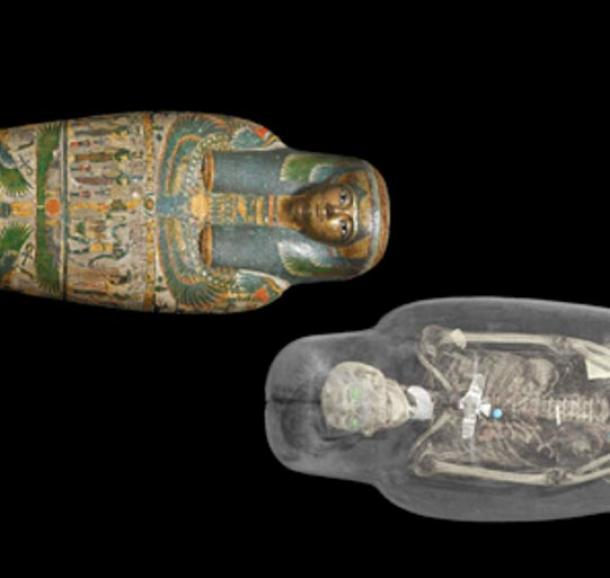 CT Scan image of Tamut mummy