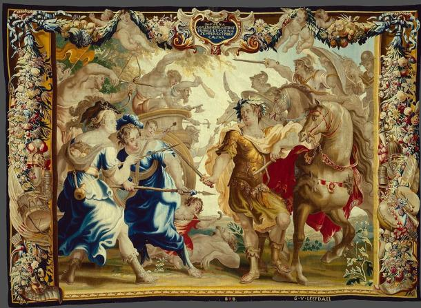 Caesar in the Gallic Wars from the Story of Caesar and Cleopatra tapestry series