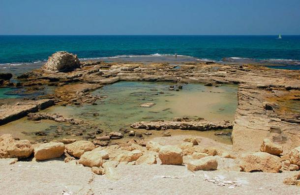 Caesarea Roman Concrete bath ruins