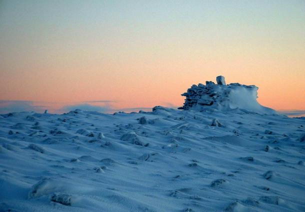 Cairn found atop a hill near Resolute Bay, Nunavut.