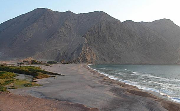 Caleta Vitor, a small fishing cove of Arica and Parinacota Region in northern Chile.